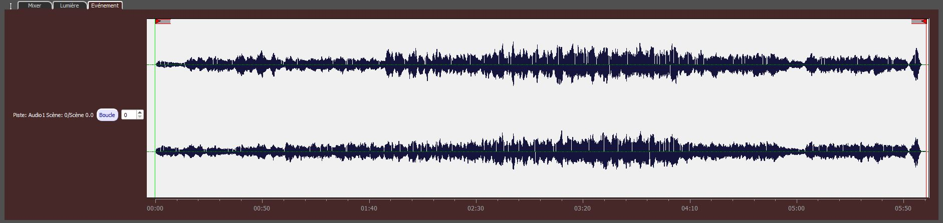événement audio