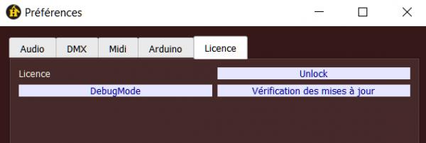 préférences licence